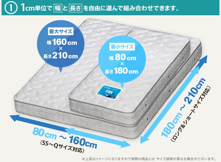 1cm単位で幅と高さを選べます