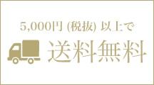 5,000円(税抜)以上購入で送料無料