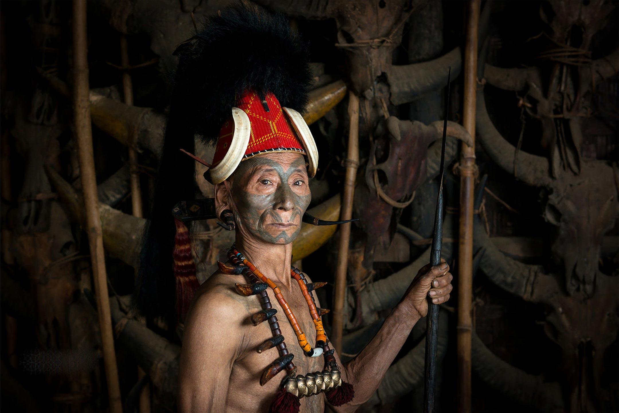 A Konyak Warrior by Manlam konyak / WIKIMEDIA COMMONS