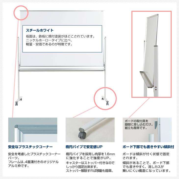 脚付MAJIシリーズの特徴。丸みをつけた安全なプラスチックコーナー(角)、安定感のあるキャスター付脚。