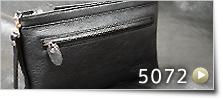 ストラップ 薄型ファスナーセカンドバッグ L[5072]