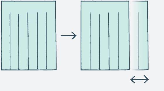 カーテン幅詰め/幅伸ばし(幅のサイズ変更)