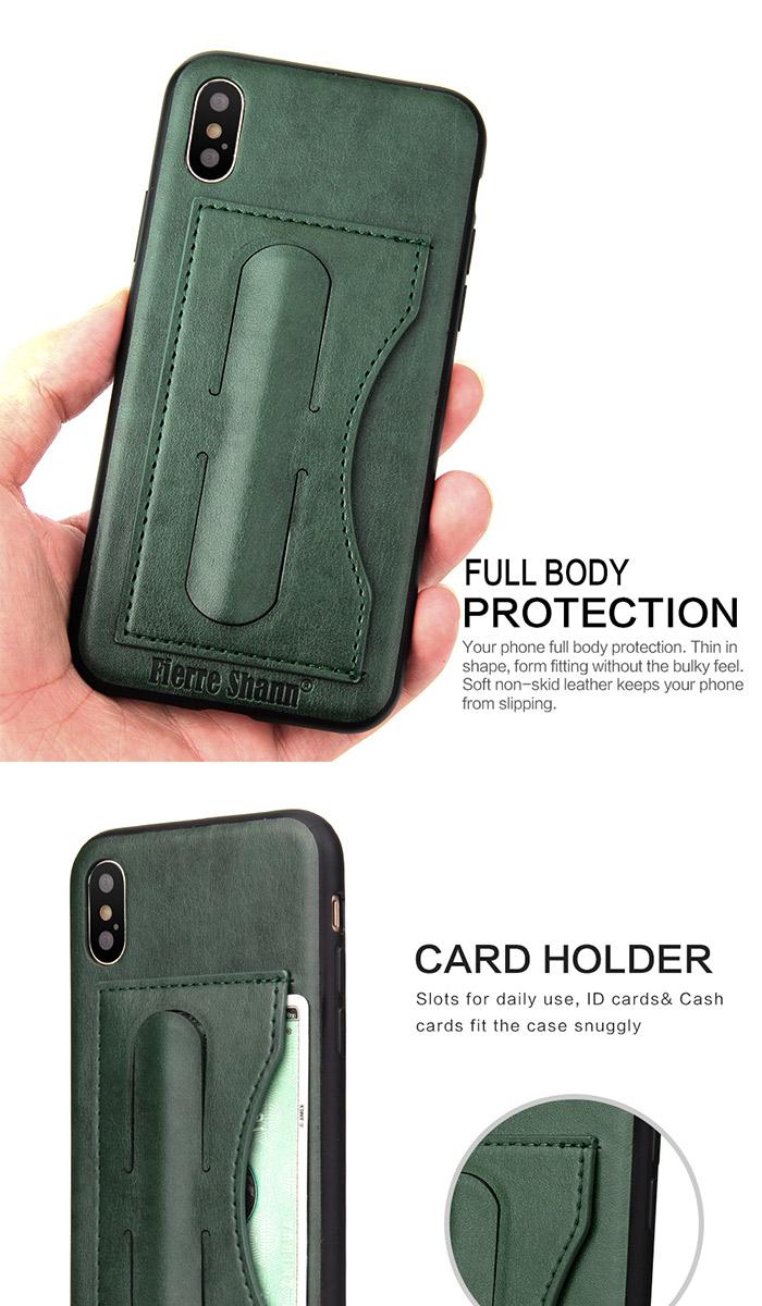 iPhoneX スマホケース 本革レザー 背面カバー 背保護カバー アイフォンテン iPhone X シンプルで飽きのこない背面保護ケース カッコイイ カード収納 スタンド機能 背面ケース レザー調 ビジネスに最適!! 定番の背面保護ケース! 大人っぽい! プレゼントにも! 送料無料