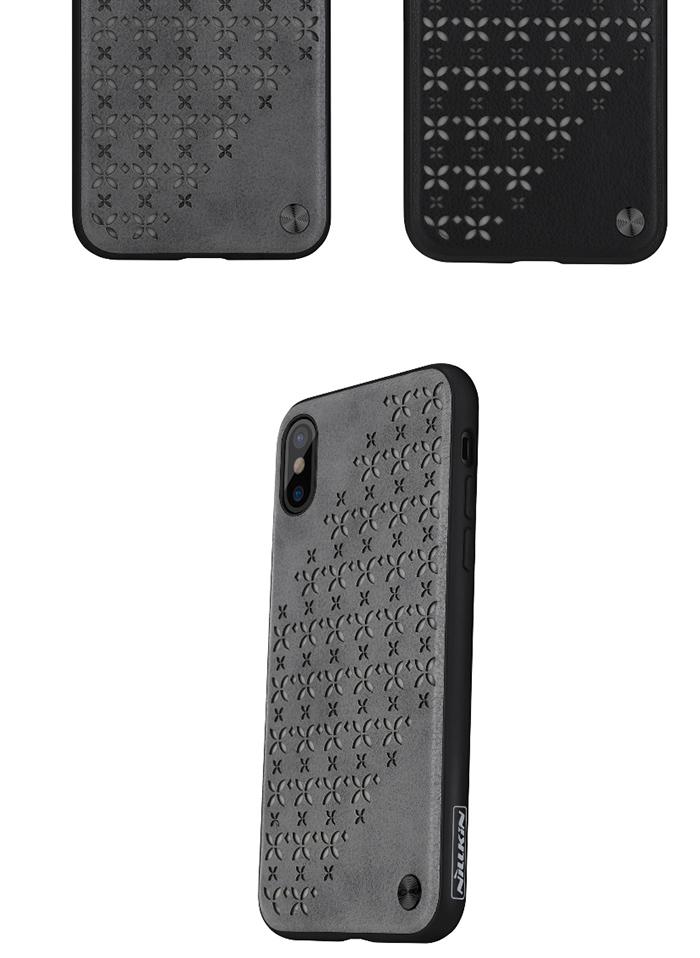 iPhoneX 背面ケース NILLKIN スマホケース iPhoneX用 蓄光 夜光 暗いところで光る メッシュ 花柄切り抜き 背面型カバー 花柄 デザイン アイフォンテン 正規品 全2色 アイフォンX iPhone X ケース スタイリッシュ カッコイイ 背面保護カバー 送料無料