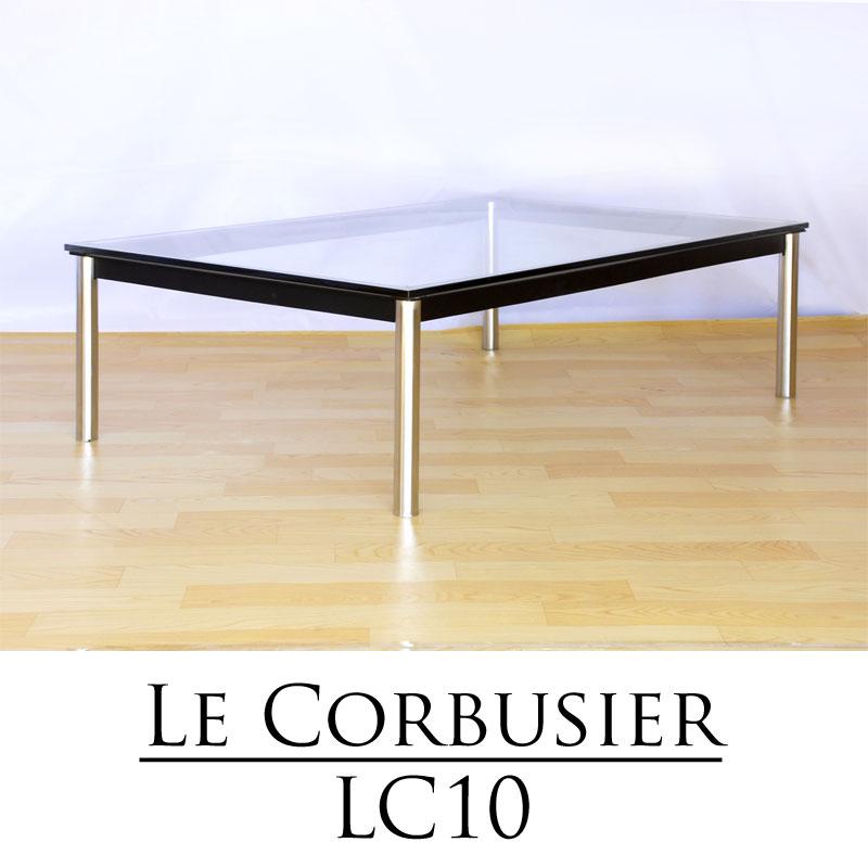 【楽天市場】【送料無料】ル・コルビジェ LC10 ガラスセンターテーブル 120cm幅:デザイン家具 オンライン