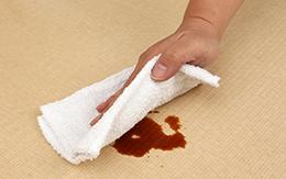 乾いた布で拭き取る