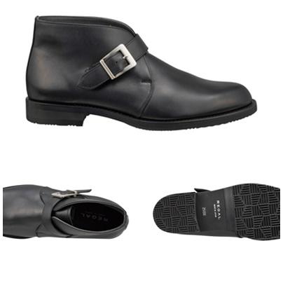 【42NRBEEB4】【REGAL】【送料無料】【日本製】【雪道対応ソール仕様】アッパー全て本革☆ゴアテックス(r)ファブリクス 幅広3E キングサイズ ストラップブーツビジネスシューズ紳士靴