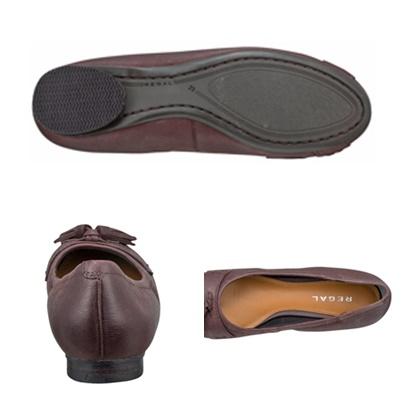 【F60JAB】【Regal】【送料無料】山羊革 ☆上品な綺麗め大き目タッセルフラットシューズ 婦人靴