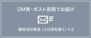 DM便・ポスト投稿でお届け 最短当日発送(土日祝を除く)※1