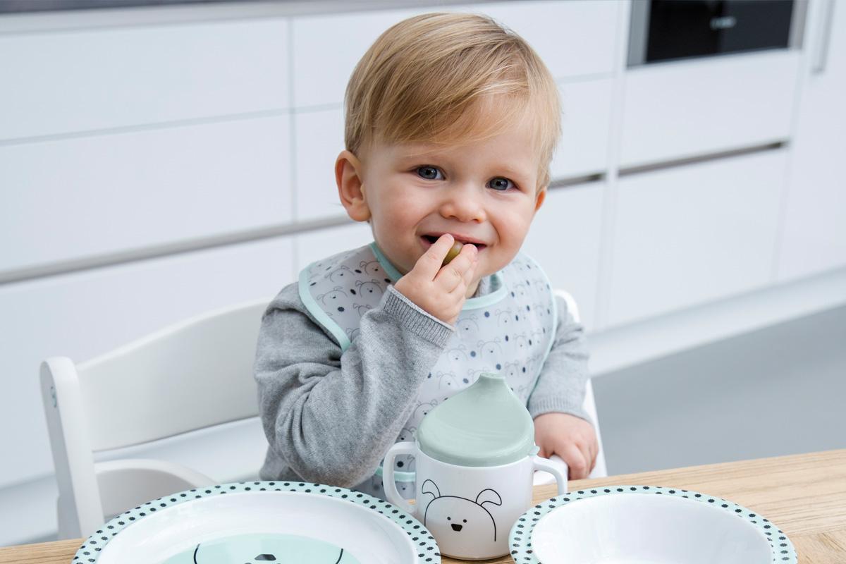 赤ちゃん ビブ スタイ よだれかけ レッシグのミディアムEVAビブ 食べこぼしポケット付き 軽量 柔らか マジックテープ