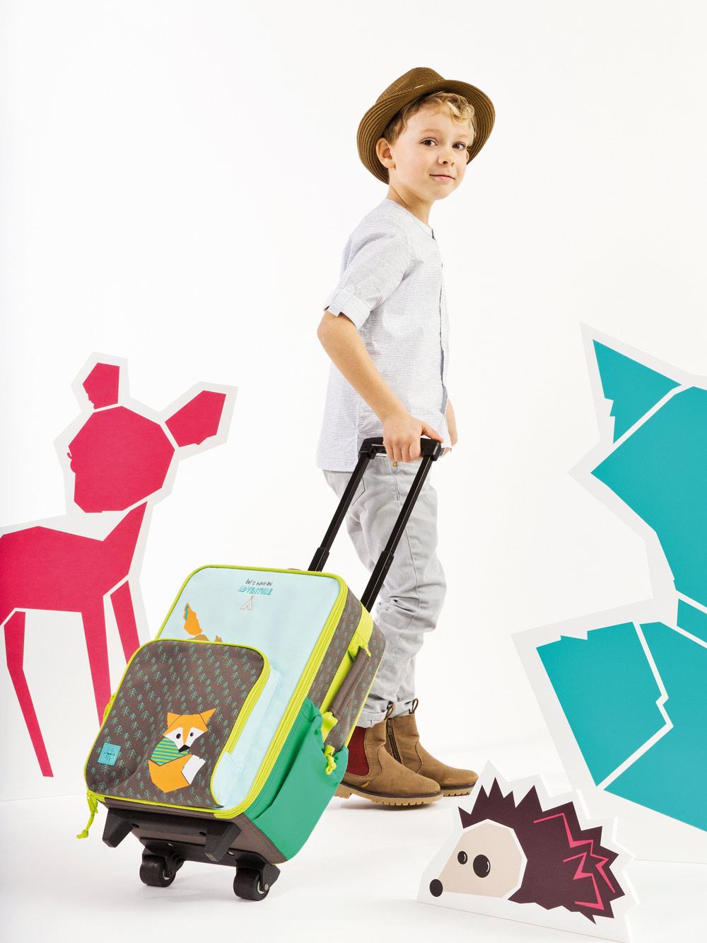 レッシグの子供用キャリーバッグ リトルツリーフォックス