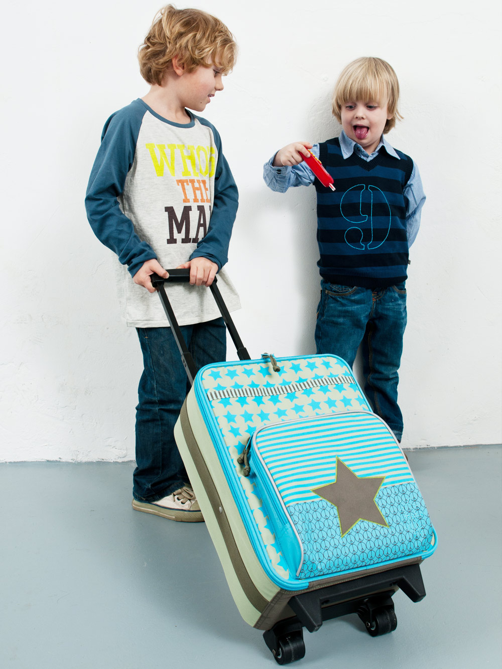 レッシグの子供用キャリーバッグ スターライトブルー