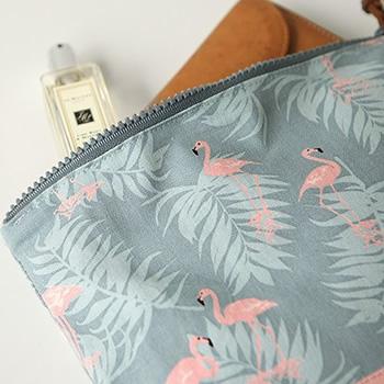 オックス生地 Charming - flamingo