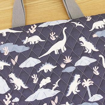 キルティング生地dinosaur
