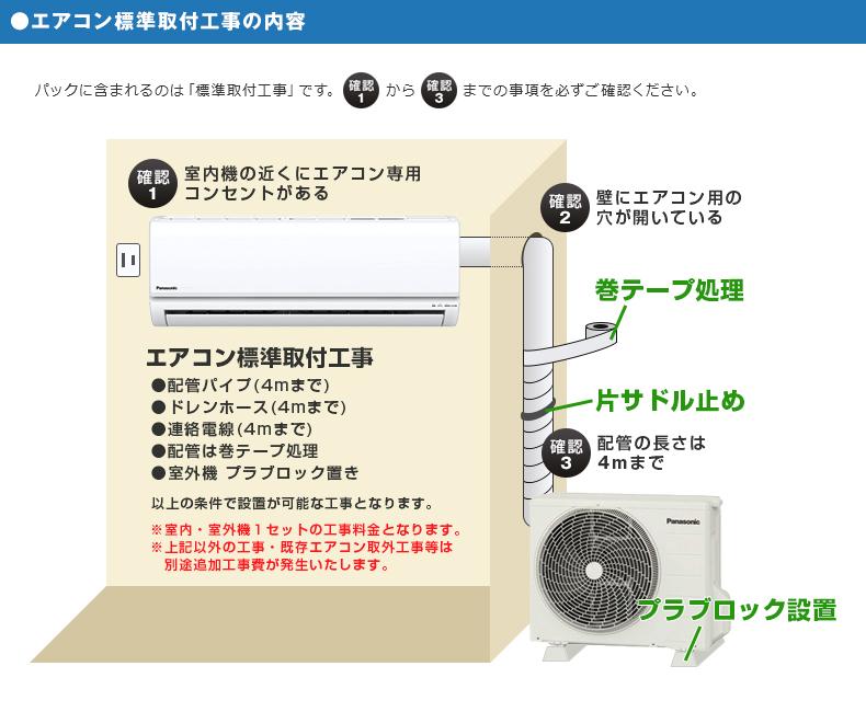 エアコン標準取付工事の内容