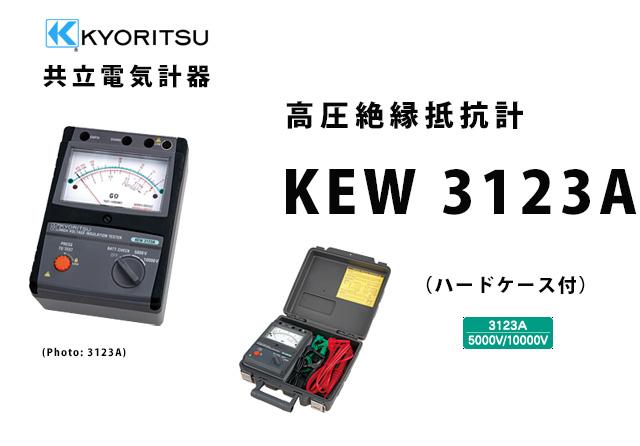 KEW 3123A  KYORITSU(共立電気計器)  高圧絶縁抵抗計 (ハードケース付)