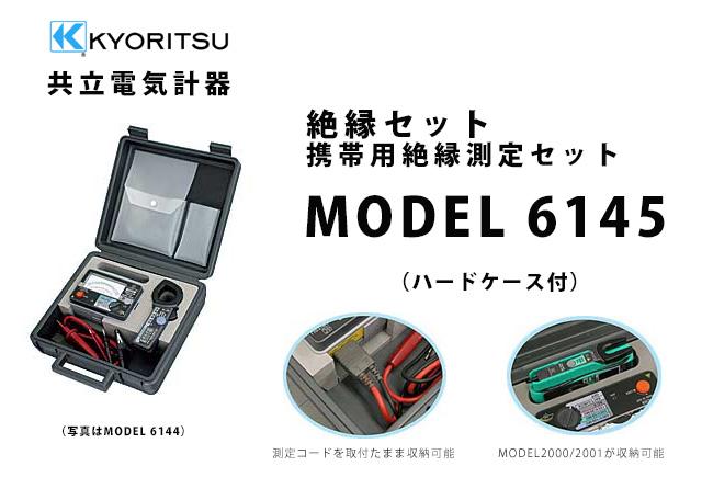 MODEL 6145  KYORITSU(共立電気計器) 絶縁セット 携帯用絶縁測定セット (ハードケース付)