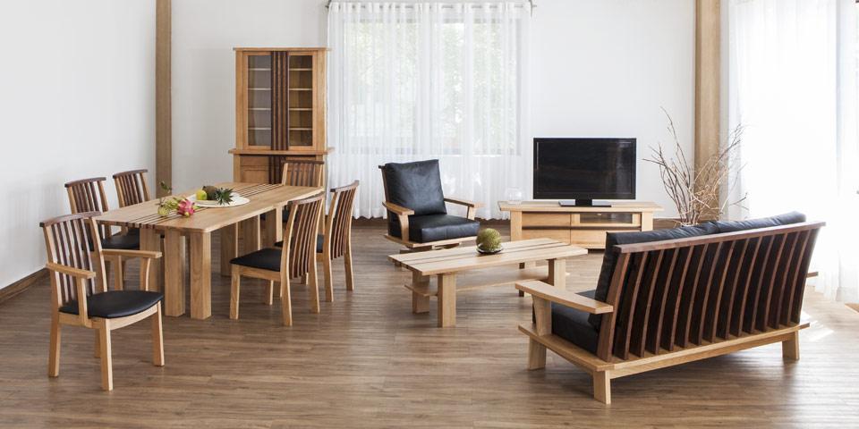 【楽天市場】WAMORE DINING TABLE 190ワモア ダイニング テーブル 190 オーク・ウォルナット[D VECTOR PROJECT  300001]:家具インテリア DENZO