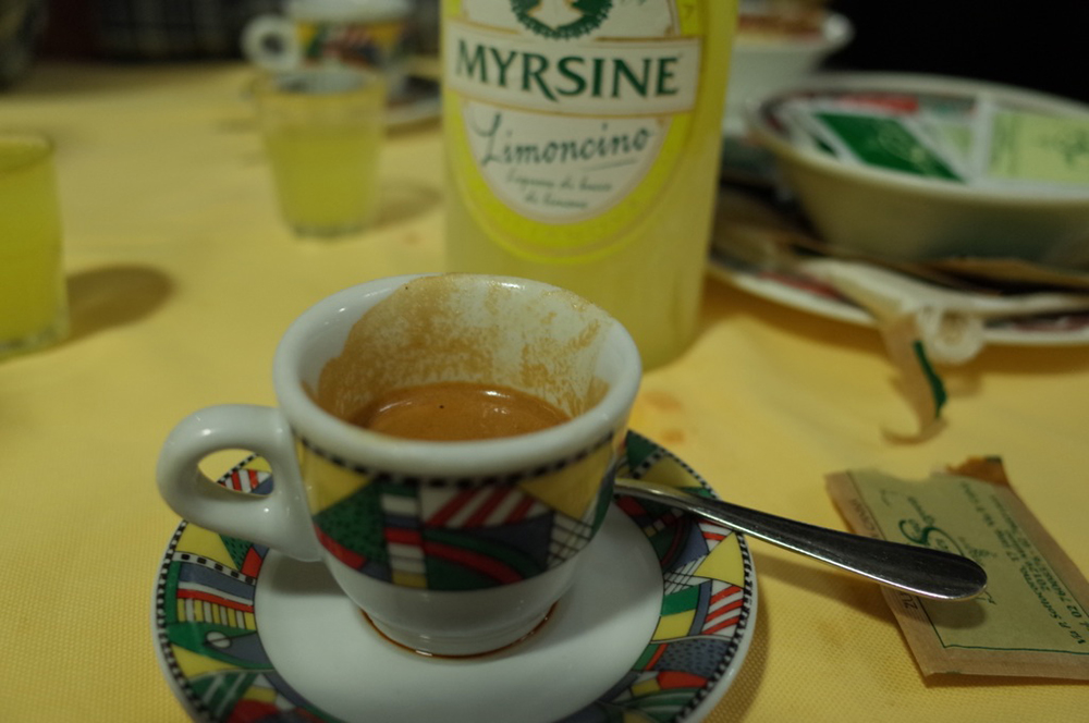 レモンチェッロとイタリアンコーヒー