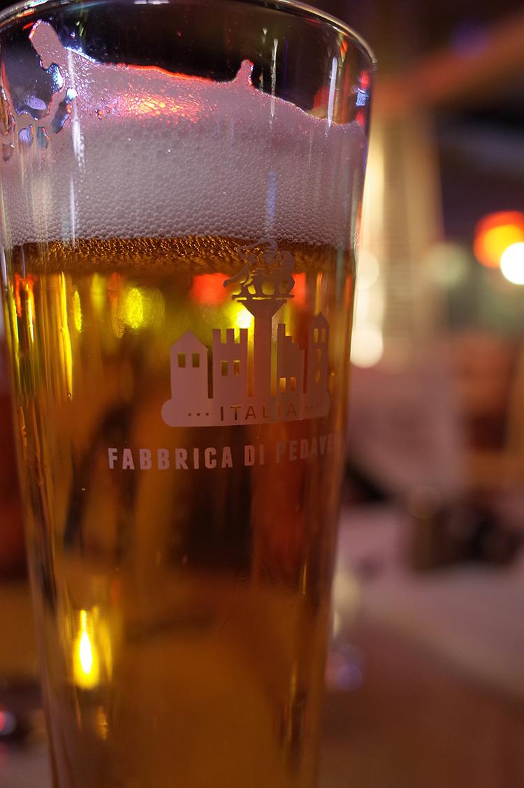 初日の夕飯 ビール