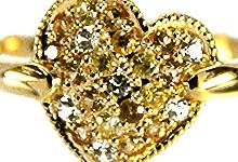イエローサファイヤ&ホワイトサファイヤ/K18(ゴールド) パヴェリングは、こちらからお入り下さい