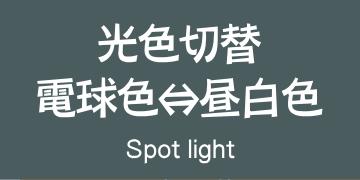 光色切替スポットライト