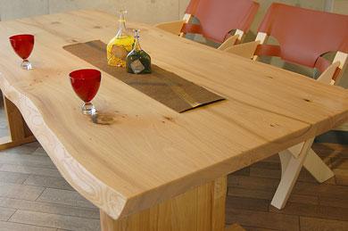 銘木無垢材ダイニングテーブル