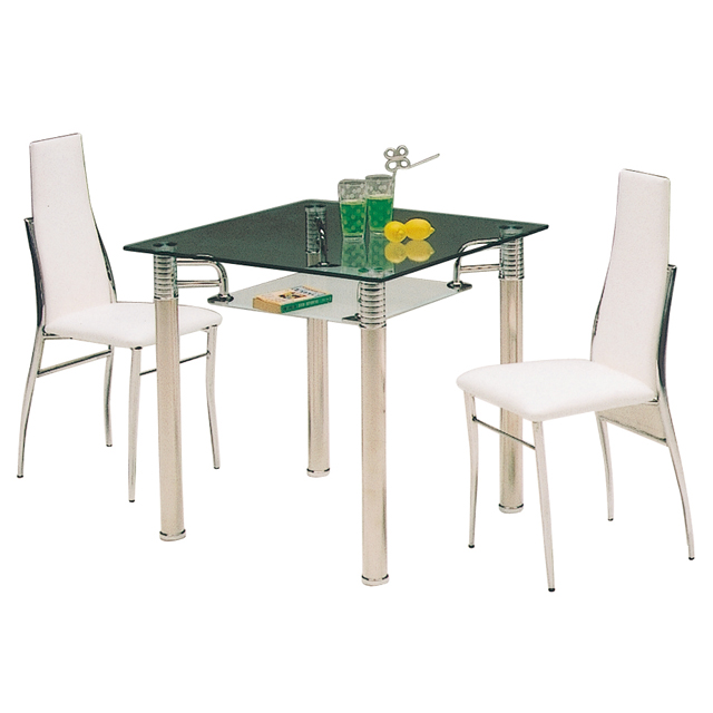 Dreamrand rakuten global market glass modern dining for 2 person dining room table