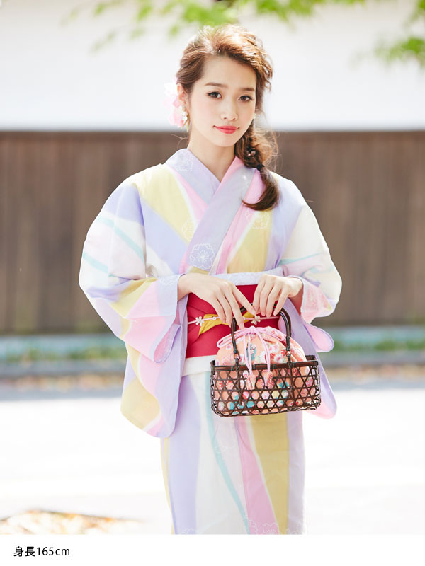 Clean Cute Basket Bag Yukata Drawstring Full Specifications Storage With 2 Way More Pretty Lady Fashion Spring Summer Yukata Accessory Beige Brown
