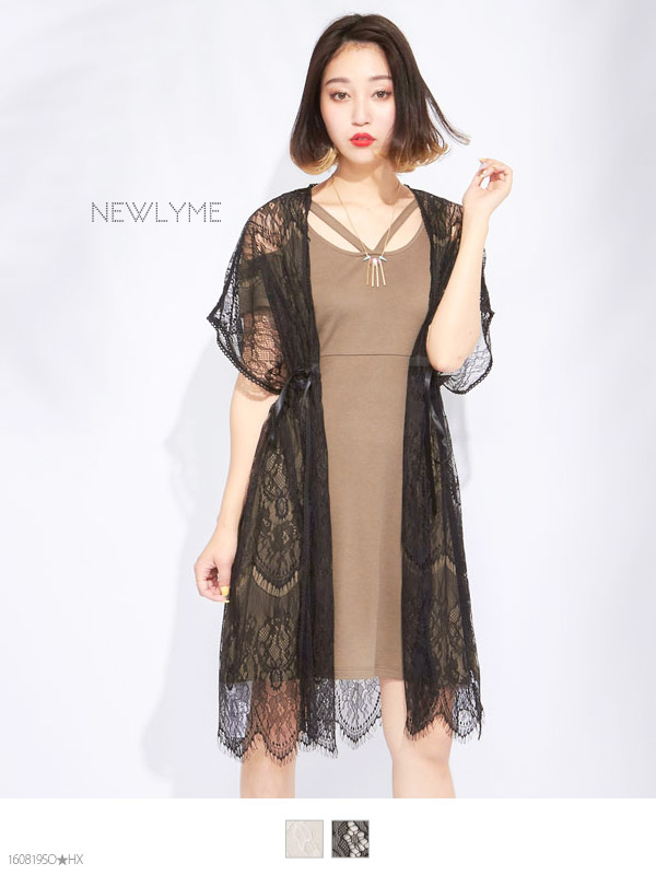 dreamv | Rakuten Global Market: Sheer Cardigan lace gathered gown ...