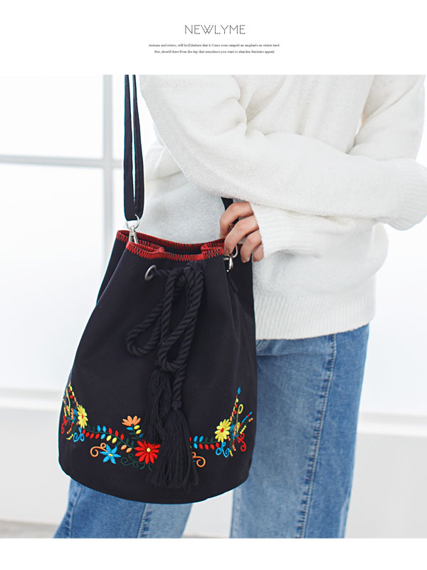 6f53dd6c07 I prepare large-capacity thickness daily going out color variations   color  gray pink navy mixture black and white  F  with the bag embroidery canvas  ...