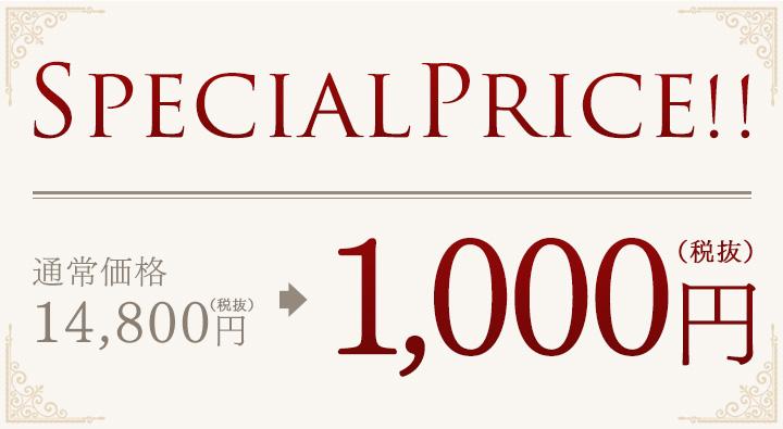 好評につき今だけSPECIAL PRICE!! 1,000円