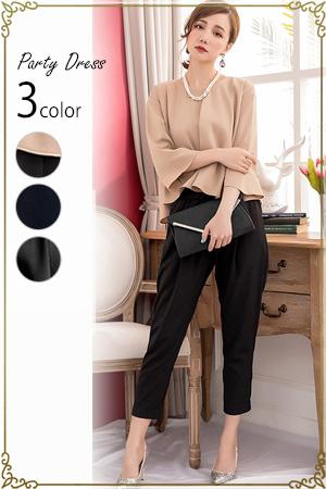 【パーティードレスランキングNo.5】 ブラウス・ワンピース・パンツの3点セットドレス