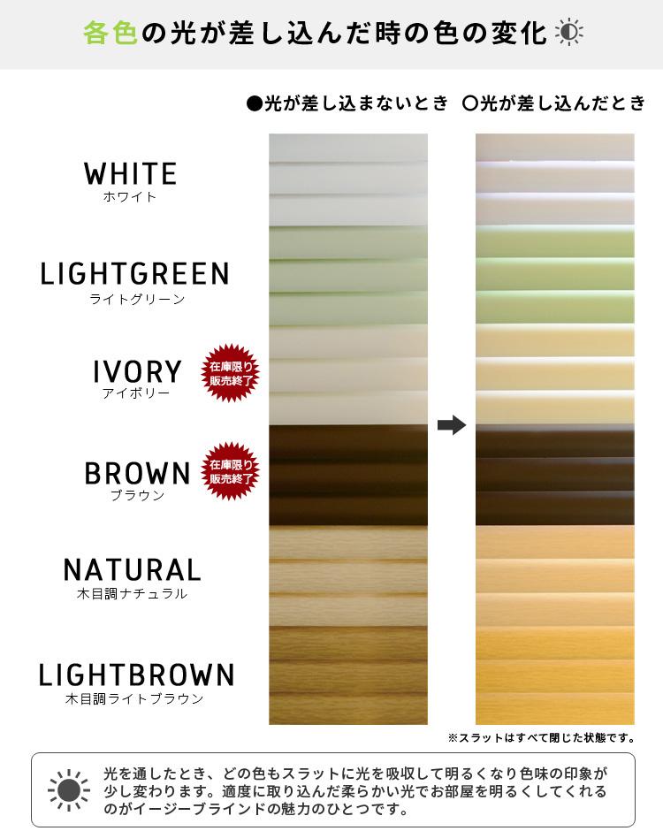 各色の光が差し込んだ時の色の変化
