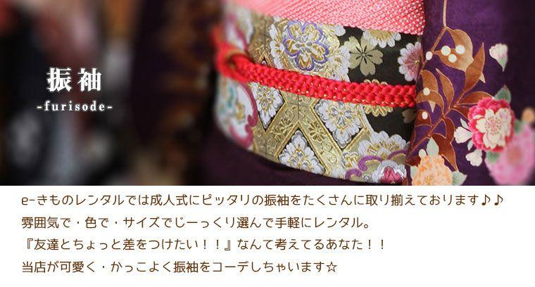 e-きものレンタルでは成人式にピッタリの振袖をたくさんに取り揃えております♪♪雰囲気で・色で・サイズでじーっくり選んで手軽にレンタル。『友達とちょっと差をつけたい!!』なんて考えてるあなた!!当店がかわいく・かっこよく振袖をコーデしちゃいます☆
