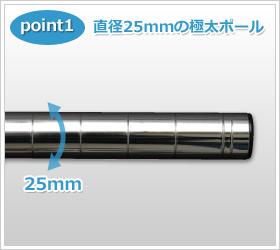 直径25mmの極太ポール