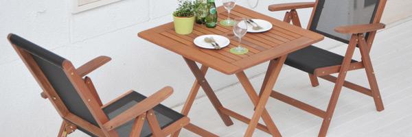 フォールディングテーブル&チェア(3点セット)