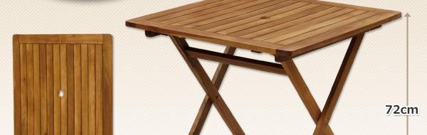 スクウェアフォールディングテーブル