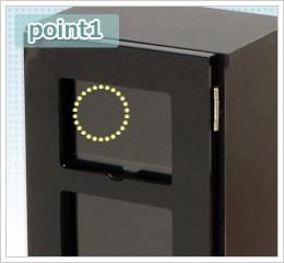 調節穴付きで棚板の移動調節が可能