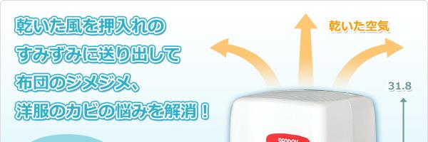 押入れ 電子吸湿器(除湿機)