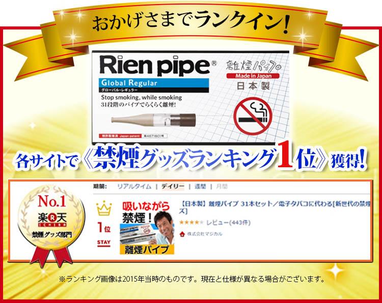 Amazon、楽天市場、Yahooの禁煙グッズ、禁煙サポート用品ランキングで1位を獲得!3冠達成しました。