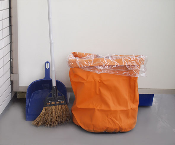 ベランダのお掃除時のゴミ入れなどにも