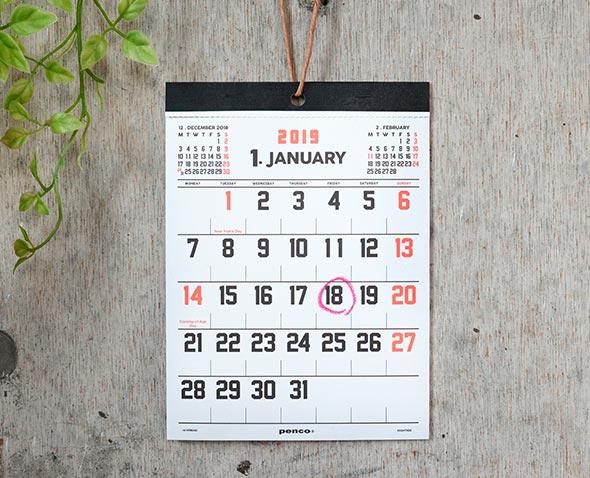 penco カレンダー A5 19NH001