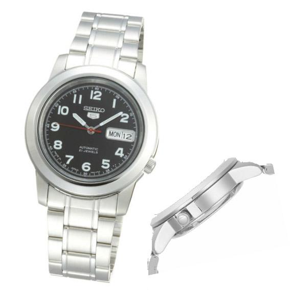 精工seiko精工5运动自动卷人手表snkk35j1黑色[返销进品