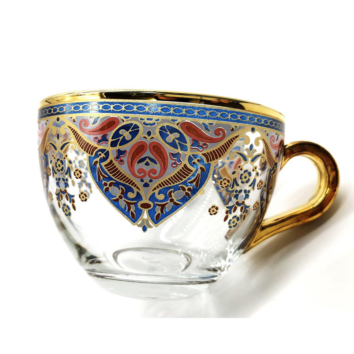 トルコチャイ 耐熱グラスカップ&ソーサー セット