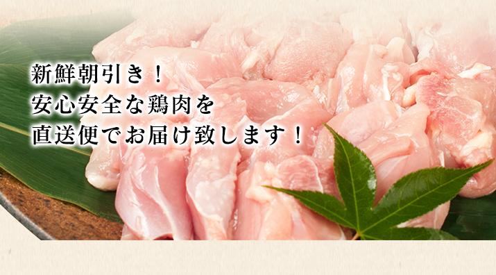 新鮮朝引き!安心安全な鶏肉を直送便でお届け致します!
