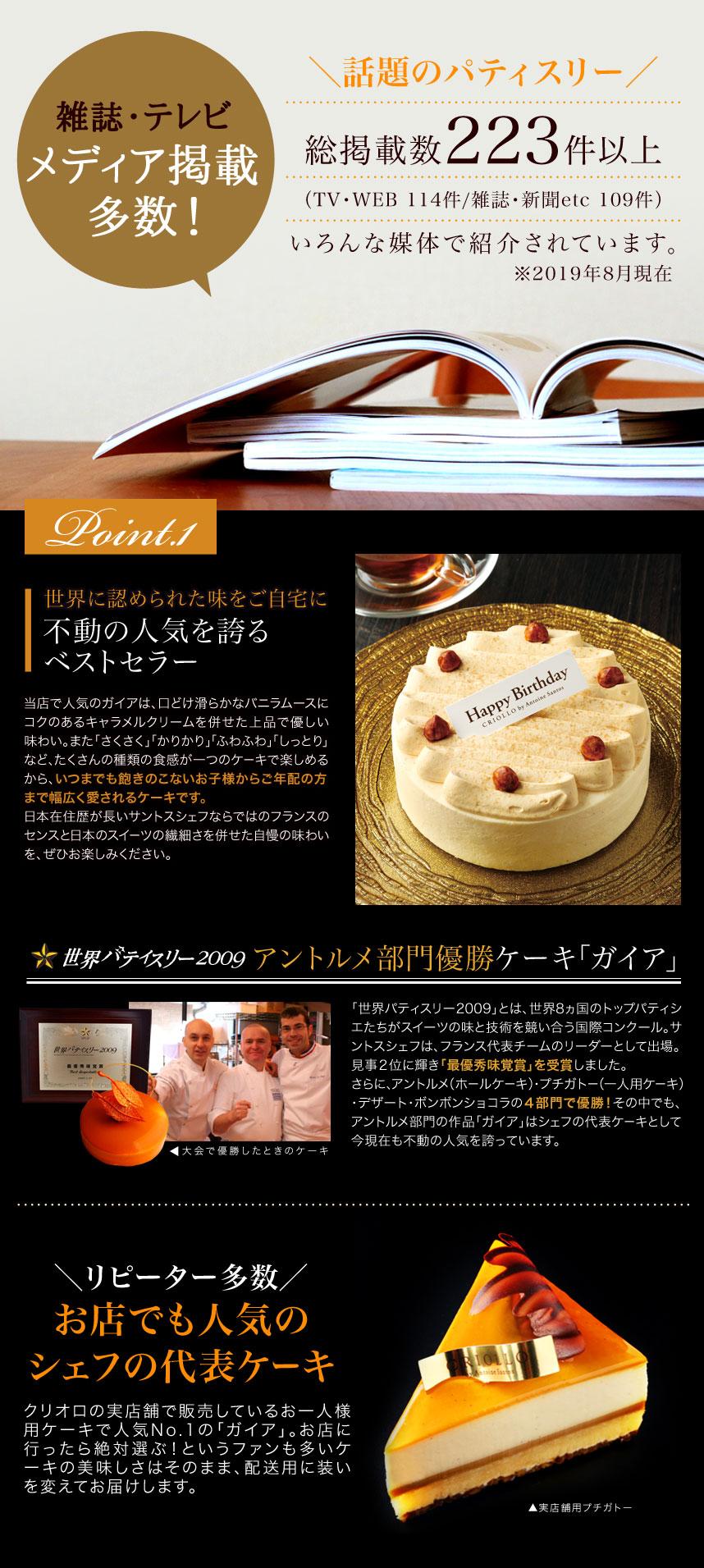 バニラとキャラメルのケーキ「ガイア」
