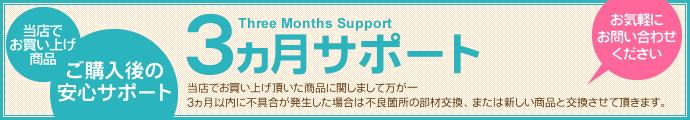 3カ月サポート