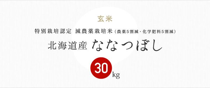 減農薬特別栽培米 北海道産ななつぼし