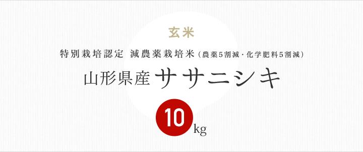 減農薬特別栽培米 山形県産ササニシキ